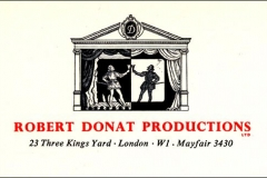 Robert Donat, JD's Dad, star of stage, screen and radio.